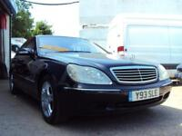 Mercedes 5 Litre V8 302 BHP W220 S500 Auto –– Very Fast – LOW MILEAGE - £2,999