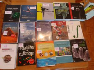 Livres de Cégep et université (math/physique/bio)