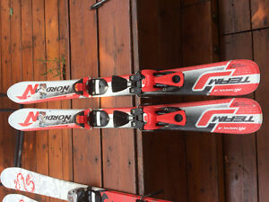 NORDICA SKIS WITH SALOMON BINDINGS