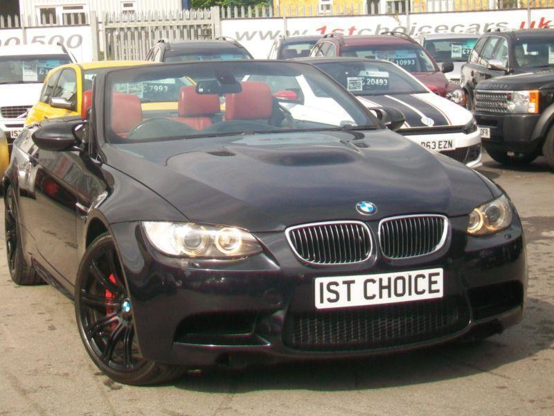 2008 Bmw M3 Convertible Stunning Jerez Black With Red Leather Black