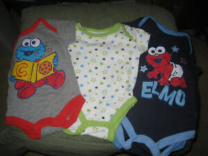 boys onesies & hats: 0-3, 3, & 3-6-$10 for all
