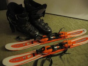 Snowblades and boots (Like new)