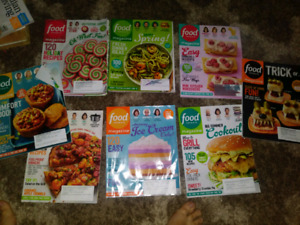 Food Network Magazines Lot of 8