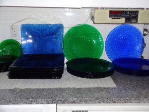 Bubble Glass Plates/Serving Trays