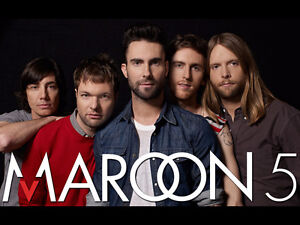 MAROON 5 ROUGES 102 RANGEE G-REDS 102 ROW 'G' MAROON 5