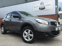 2013/13 Nissan Qashqai 1.6 2WD Visia 5 Door MPV Estate Metallic Grey ONE OWNER!