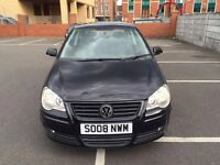 2008 Volkswagen Polo Manual Petrol 1.2 Match 3dr Hatchback Black Hpi Clear