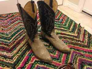 RING TAIL LIZARD COWBOY BOOTS & BELT