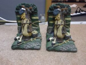 GOLF BOOKENDS FOR SALE