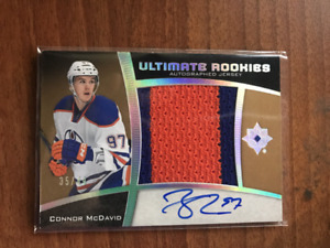 CONNOR MCDAVID ULTIMATE ROOKIES AUTOGRAPHED JERSEY #ED 49