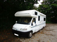 Bessacarr E695 six berth motorhome with U shape lounge and over cab bed
