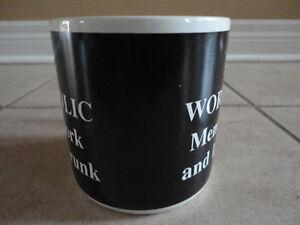 I'm a Workaholic black/white jumbo coffee mug gift London Ontario image 6