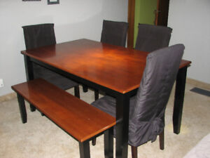 Table, Chairs & Bench