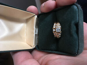 14 K gold wedding set size 6.5