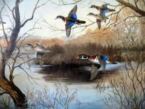 "Hand Signed and Numbered, Maynard Reece ""Wood Ducks"" Lithograph Stratford Kitchener Area image 3"