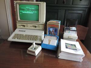 Vintage Apple lle 1983, modèle A2S2064, écran, DuoDisk, manette