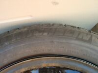205 60 16 Michelin Winter snow tires and rims