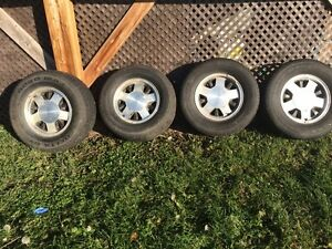 5 bolt chev rims and tired
