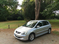 2004/54 Honda Civic 1.6i VTEC SE 5 Door Hatchback Silver