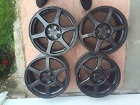 Evo 8 FQ Mitsubishi lancer enkei alloy wheels with continental winter tyres