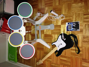 Ensemble rock band pour la WiI