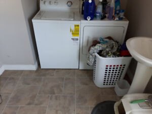GE washer and dryer 3 1/2 years old . Works great.