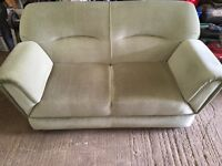 Two seater swivel arm sofa / bed
