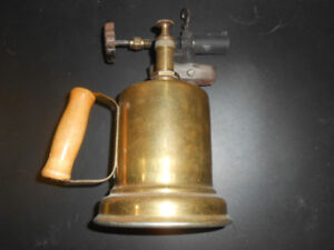 Plumbers Torch Solid Brass  Antique