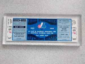 Billet Joute D'Ouverture expos 1969 Opening Game