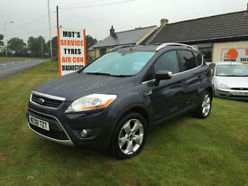 08 FORD KUGA 4WD 2.0 TDCI TITANIUM 49000 MILES FSH 9 SERVICES 1 OWNER