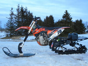 2013 KTM 450sx-f with like new Timbersled Mountainhorse 120