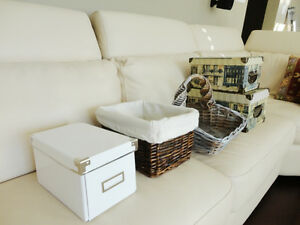 Assorted Storage Baskets & Decorative Boxes (All priced below)