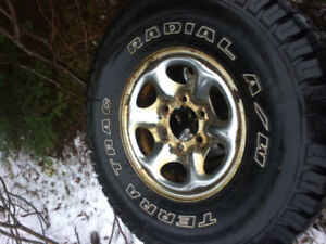 4 TerraTrac tires & Rims 31x10.5 R15
