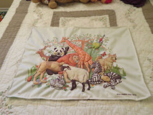 Animal Kingdom pillow Sham with pocket for Tooth Fairy!
