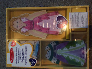 Brand New Magnetic dress up doll