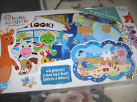 Baby Einstein Look and find book and 40 piece giant puzzle