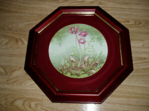 framed plate with nl picture plant