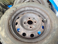 Hankook I Pike RC01 175/70r13 with rims 4X100