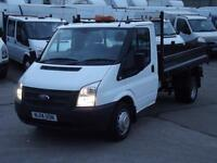 FORD TRANSIT 2.2TDCI T350M 100PS 6 SPEED TIPPER 1 OWNER F/S/H FINANCE ARRANGED