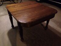 Antique solid wood table