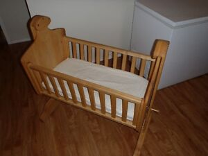 Solid maple bassinet, hand made