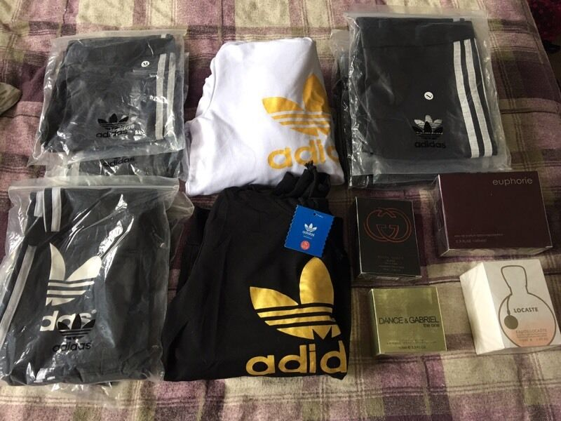 Adidas jumpers and leggingsin Blackwood, CaerphillyGumtree - Adidas jumpers adidas leggings leather look with grey stripe and black and white fragrances see pic and contact me for more info