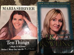 Novels, Teaching, Psychology, Biographies, Books on Tape, etc ..