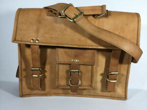 New Genuine Leather Light Brown bag/briefcase