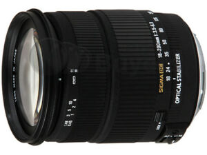 Zoom Sigma DC 18-200mm Optical Stabilizer Canon Digital