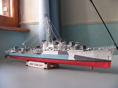 Modelik 04/05 - Zerstörer HMS Onslow     1:200 mit Lasercutteilen