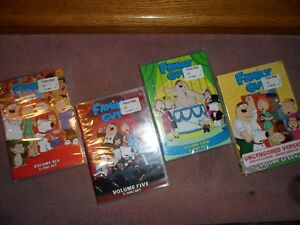 Seasons 4 to 7 of the Family Guy on DVD  (New!)