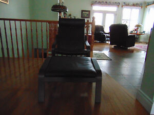 Brown Reclining Chair with Foot Rest