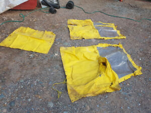 Soft sides for tractor cab (lawn tractor)