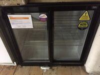 lec black chiller new double door